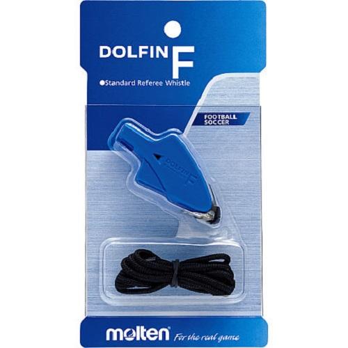 Còi trọng tài bóng đá Molten dolfin F dây màu Xanh